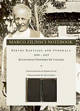 Portrait of Marco Zilinsci and Notebook cover